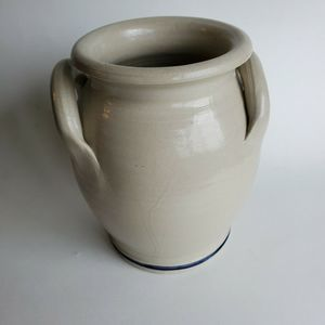 Williamsburg Pottery Accents - Williamsburg Pottery Salt Glazed Crock Dated 1993